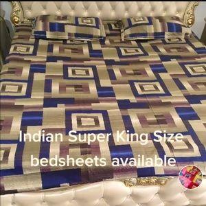 Indian king size bedsheet